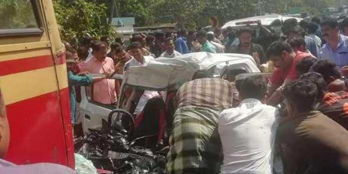 Five killes as car and bus collide at Kottarakkara : Kerala News